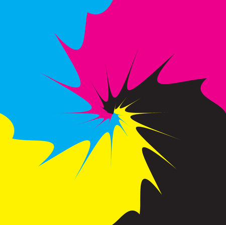 mix: CMYK process mix as vector illustration