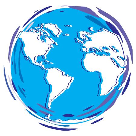 planetarium: Stylized Earth Planet - Globe as vector illustration