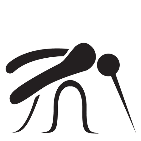 disgusting animal: Stylized Mosquito - Vector illustration