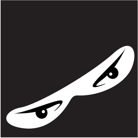 Close up of Ninja Eyes - Vector illustration