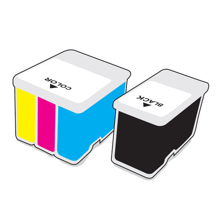 inkjet: Inkjet cartridges CMYK - Vector illustration