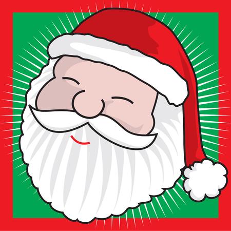 Santa Claus head - Face detail - A vector illustration