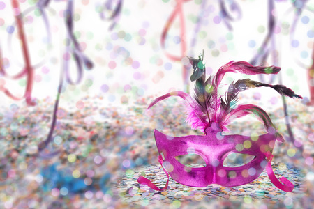 carnaval: Carnival Party theme background - Mask signature