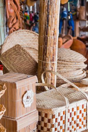 brazilian: Brazilian wicker handcrafts Stock Photo