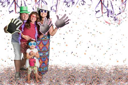 Happy Brazilian group at Carnival party Standard-Bild