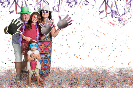 celebrate year: Happy Brazilian group at Carnival party Stock Photo