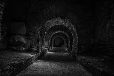 In the dark tunnel photo