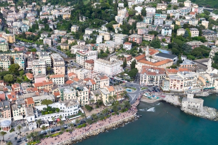 Aerial view of Rapallo Italy