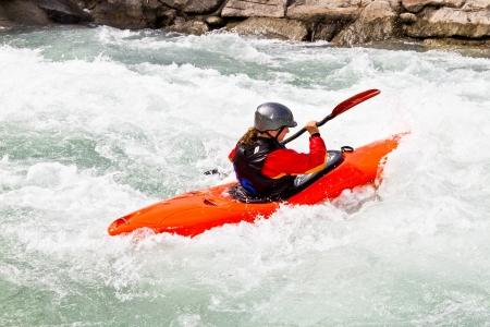 kayak woman