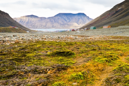 Panorama of Longyearbyen Svalbard