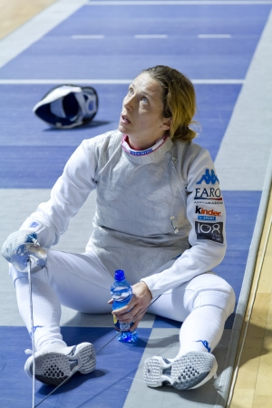 valentina: Valentina Vezzali, bronze medal Olympic fencing Editorial