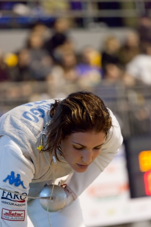 Arianna Errigo, silver olympic fencing medal Editorial