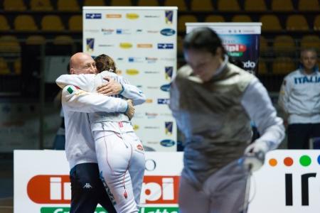 Fencing Cup Torino 2013 woman foil championship winner Arianna Errigo