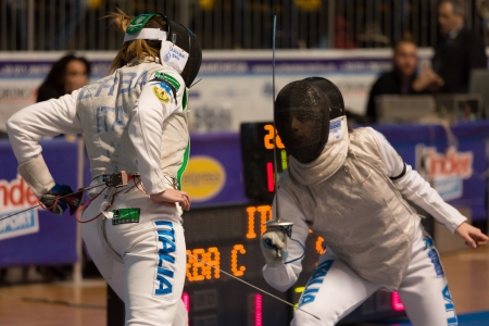 Fencing Cup Torino 2013 woman foil championship Editorial