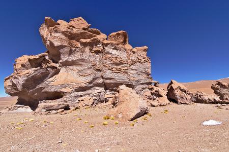 Erosion sculpted rocks in the desert of Atacama, Chile.