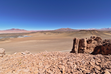 Rock formations in the Atacama desert