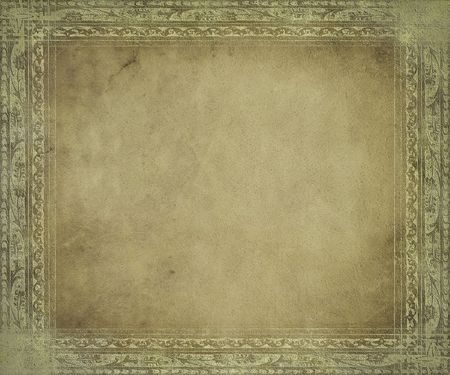 Light antique parchment with frame Stock Photo - 6515970