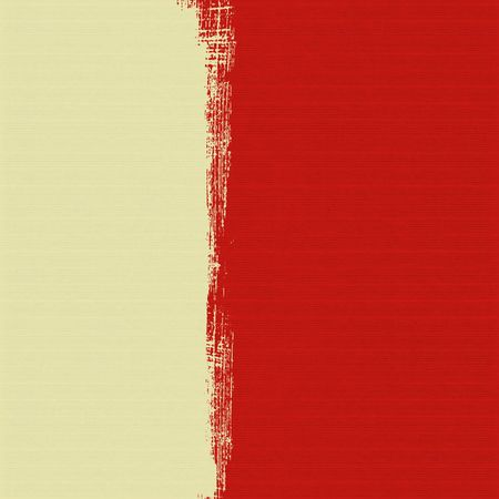 Cream box on red ribbed paper textured background Stock Photo