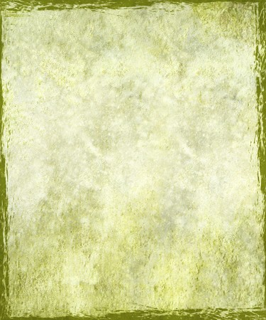 Vintage stained light green plaster with grunge frame background photo
