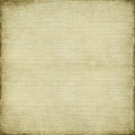 antique paper and bamboo woven background with grunge frame Stock Photo