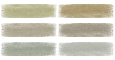 hues: Neutral earth and grey faded grunge banner set isolated