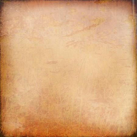 Chalk scratch orange background with grunge frame photo
