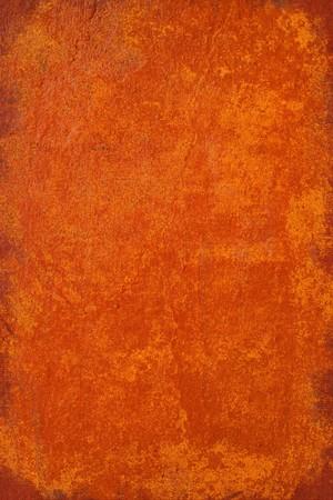 Grunge orange brûlé en plâtre arrière-plan avec cadre  Banque d'images
