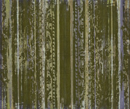 Grungy green scroll work wood stripes textured background photo