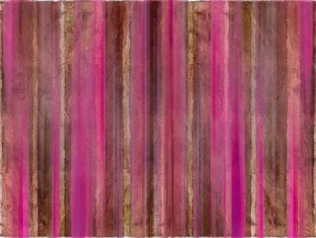 Brown and pink watercolor wash stripes with text space Stock Photo