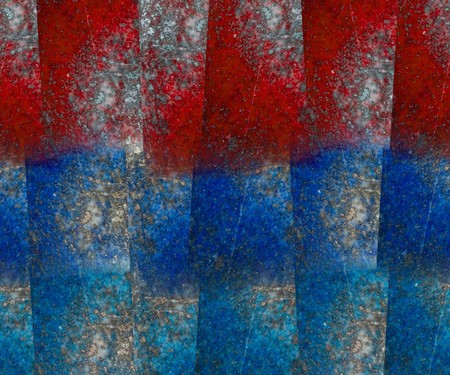 lapis: Red and blue lapis lazuli block grunge textured background