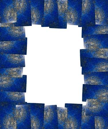lapis: Lapis lazuli frame isolated  Stock Photo