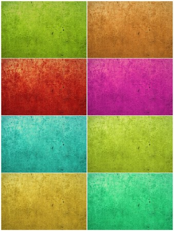 Collection: colorful paint washed plaster textured background photo