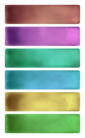 Colorful watercolor textured banner set photo