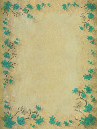 Aquamarine blossom flower border background photo