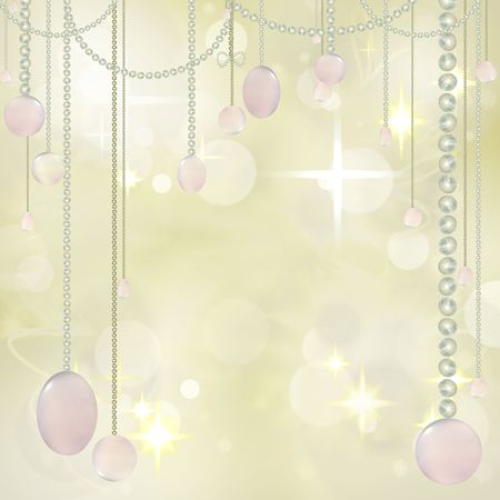 Beautiful Hanging beads on Festive textured Background  photo