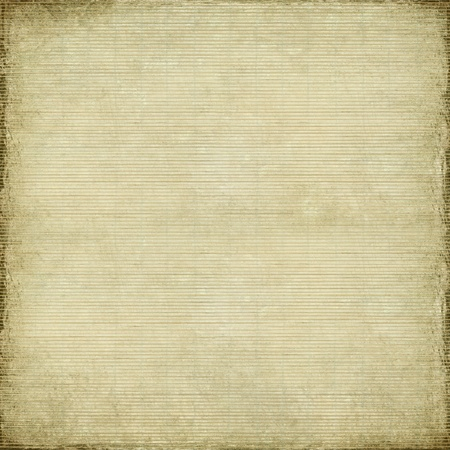 Antique paper and bamboo woven background with light grunge frame Standard-Bild