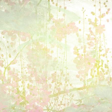 Grunge Pastel Flower Art Print textured Background