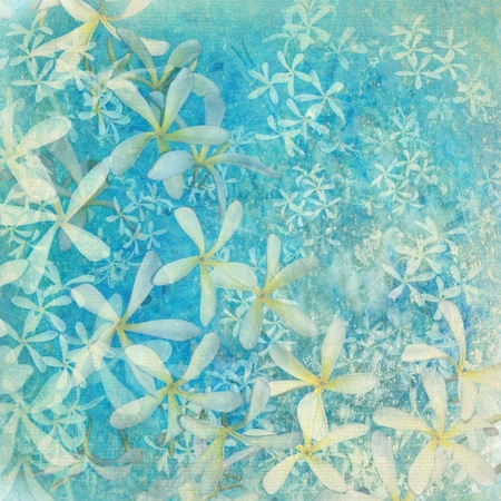 Glistening blue flower textured art background with text space photo
