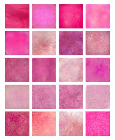 Pink Textured Background Set