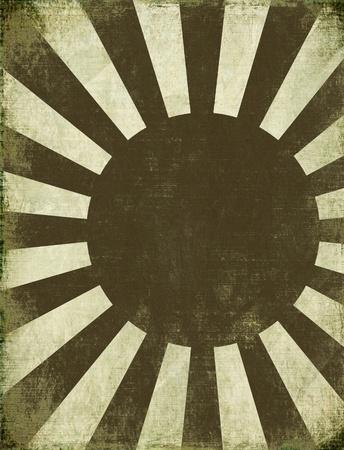 sol naciente: Antiguos Rising Sun fondo con espacio de texto