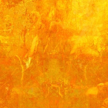 Grunge Orange Textured Background with Text Space photo