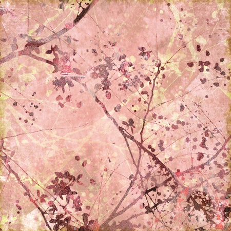 Soft Pink Floral Textured Art Background with Text Space photo