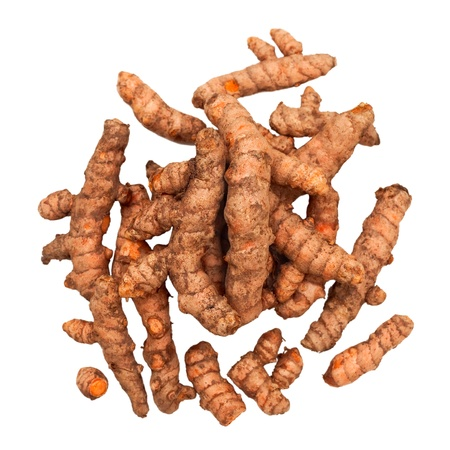 Turmeric Roots in a Pile photo