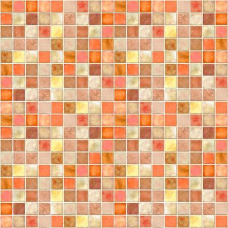Image of a Orange Tile Mosaic Background