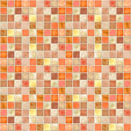 Image of a Orange Tile Mosaic Background