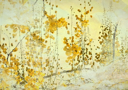 Image of a Yellow Flower Grunge Art Background