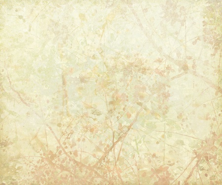 Pastel Tangled Blossom Art on Paper Background Stock Photo - 8881155