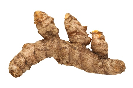 completed: Fresh Turmeric Root Isolated with clipping path