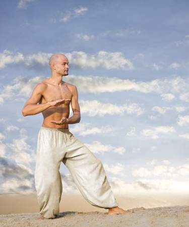 tai chi martial art background with text space Stock Photo - 9651065