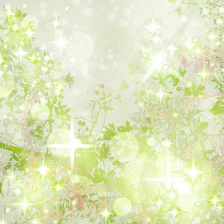 Sparkly Garden Art Textured  Background Standard-Bild